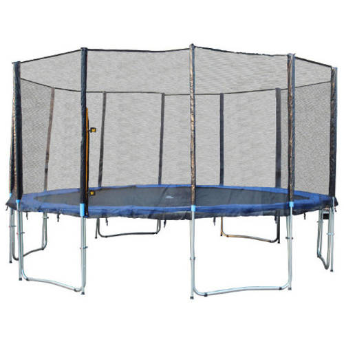ExacMe 16-Foot Trampoline, with Safety Enclosure, Blue (Box 1 of 3)