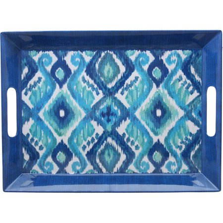 Better Homes And Gardens Ikat Large Rectangle Tray  Blue