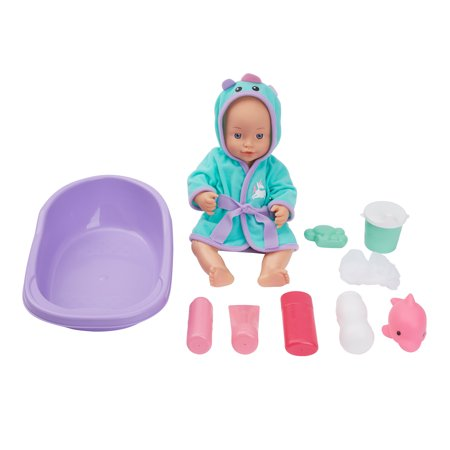 Kid Connection Bathing Baby Doll Play Set, 12 Pieces