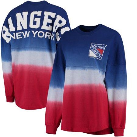New York Rangers Fanatics Branded Women s Ombre Spirit Jersey Long Sleeve  Oversized T-Shirt - Royal Red - Walmart.com 0861c0772