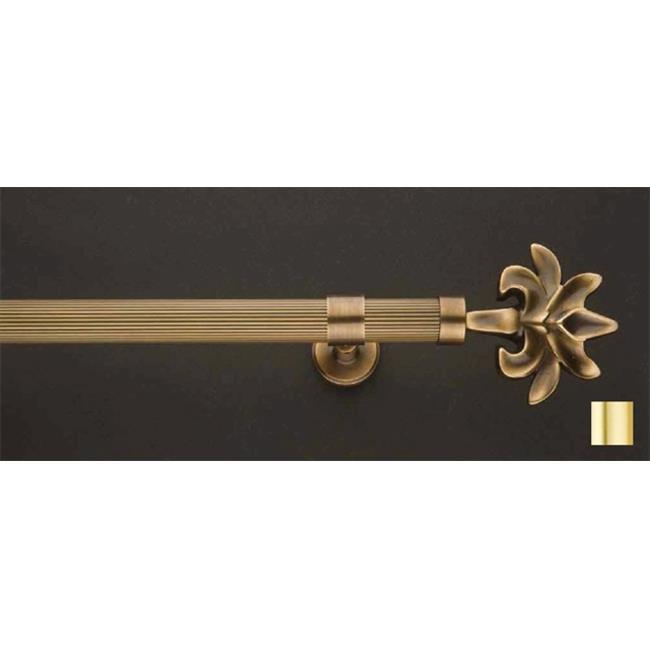 WinarT USA 8. 1017. 25. 03. 320 Liber 1017 Curtain Rod Set - 1 inch - Matte Brass - 126 inch