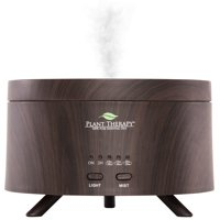 Plant Therapy AromaFuse Aromatherapy Essential Oil Diffuser 380 mL, Wood-Grain | Premium, Quiet, Atomizing Humidifier