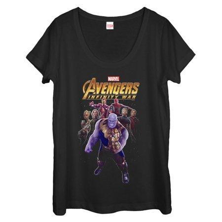 Marvel Womens Avengers  Infinity War Thanos Entourage Scoop Neck T Shirt