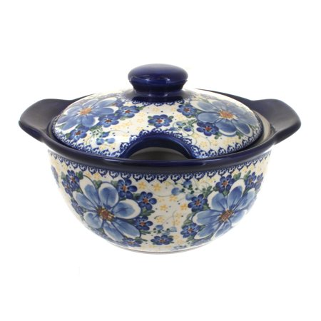 Blue Soup Tureen (Polish Pottery Daisy Surprise Soup Tureen )
