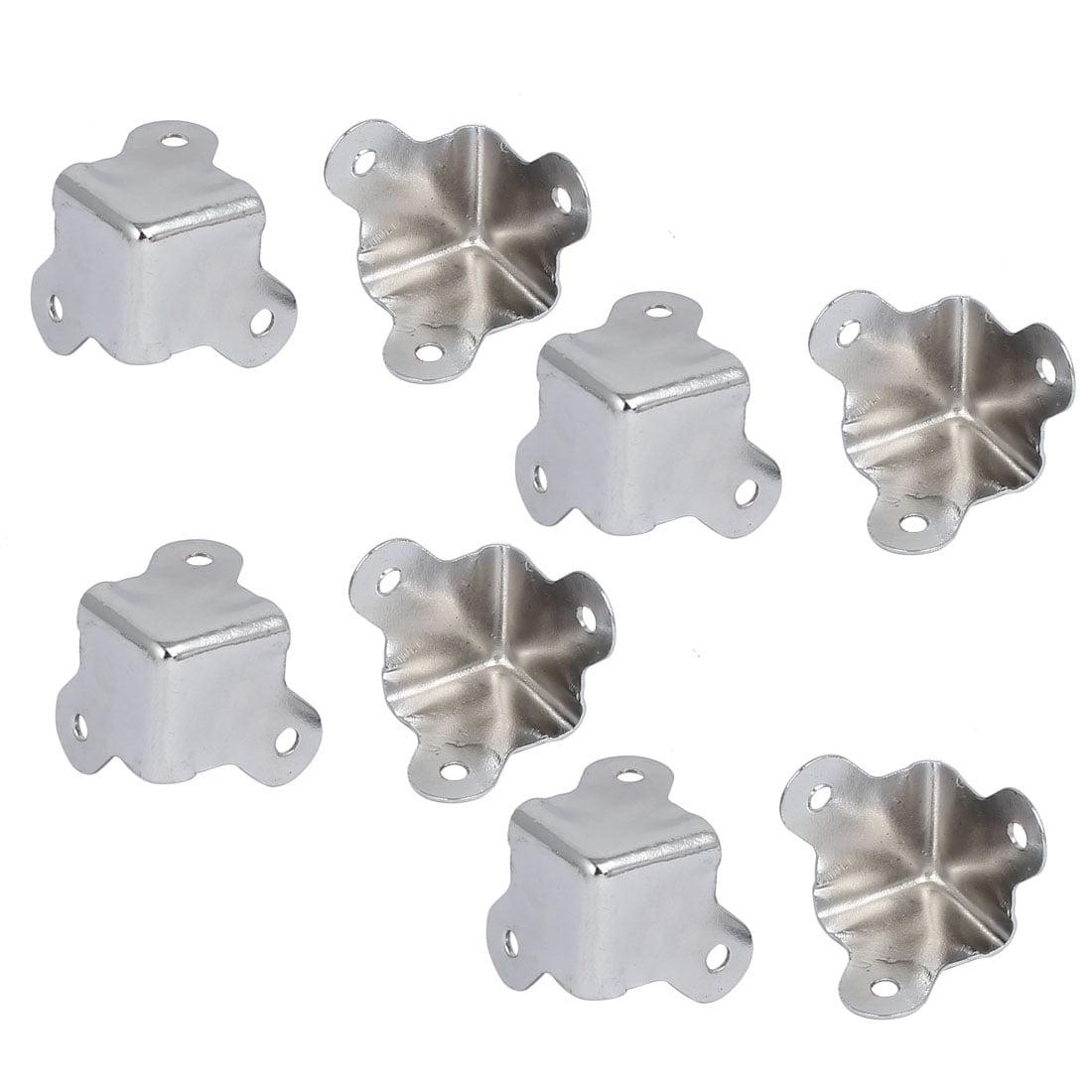 Wooden Case Jewelry Box Metal Edge Corner Protectors Covers 23mmx16mm 8pcs