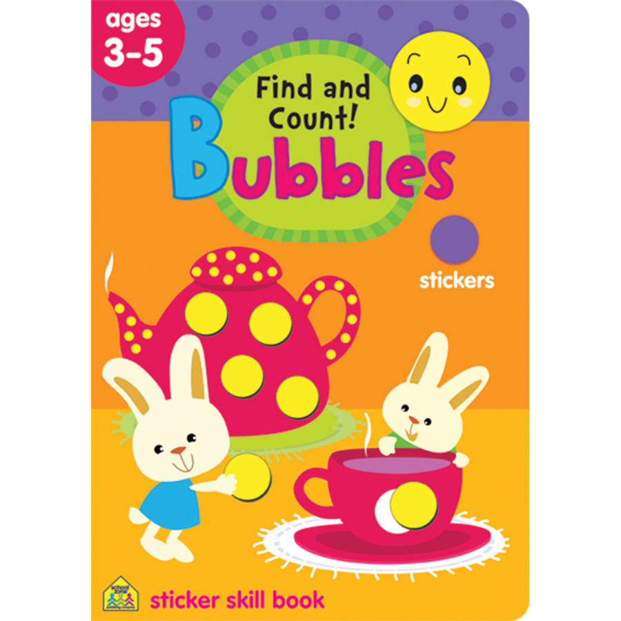 Bubbles Sticker Skill Book, Find And Count