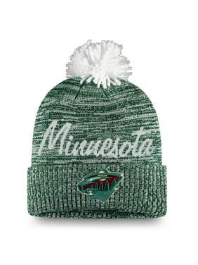Minnesota Wild Fanatics Branded Women's Cursive Cuffed Knit Hat With Pom - Green - OSFA