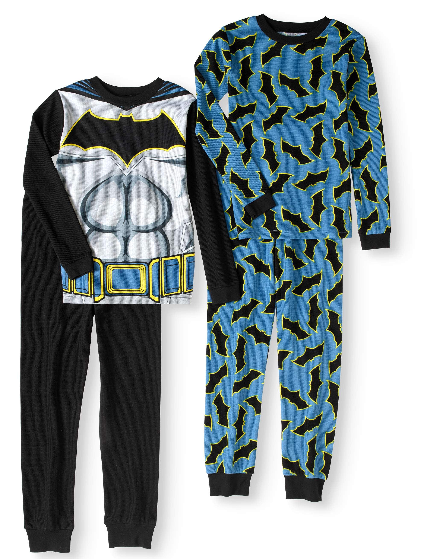 Boys' Batman Thermal 4-Piece Pajama Sleep Set (Big Boys & Little Boys) by