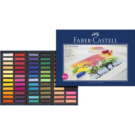 Aquarelle Water Soluble Wax Pastels - Faber-Castell Soft Pastel Crayons - 72 Pieces - Asst Colors
