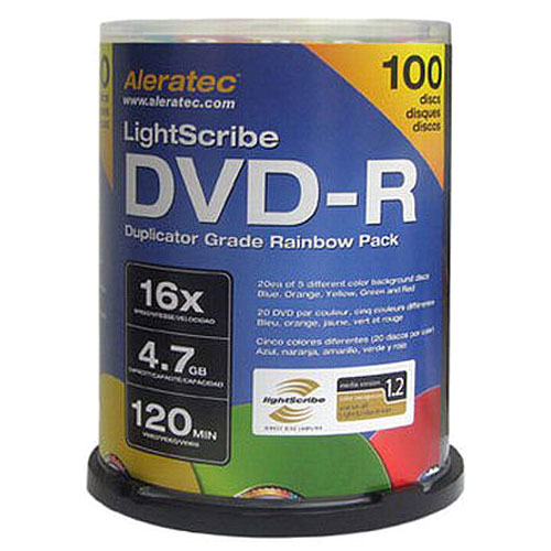 Aleratec DVD-R LightScribe Discs, 100-Pack