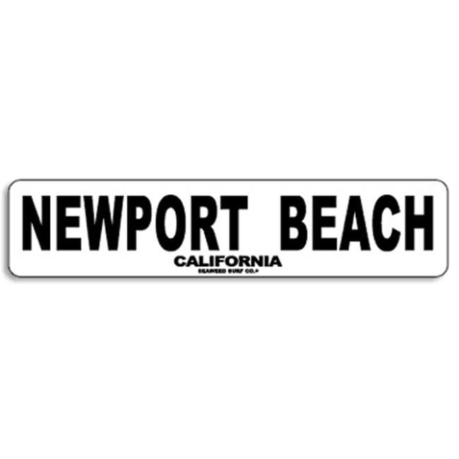 Seaweed Surf Co AA65 4X18 Aluminum Sign Newport Beach