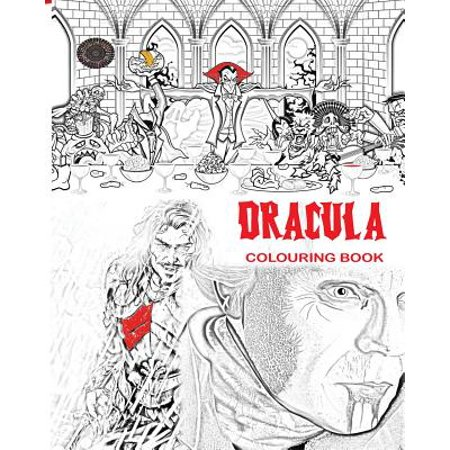 Dracula Colouring Book: Stress Free Adult Colouring Book and Mandalas of Count Dracula, Bats, Halloween, Horror Costumes, Skeleton Eyeballs, Ghosts, Zombies, Vampires, Dragons and Much More Ideal Gift