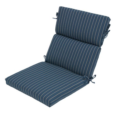 Winston Porter Germania Stripe Outdoor Dining Chair Cushion With