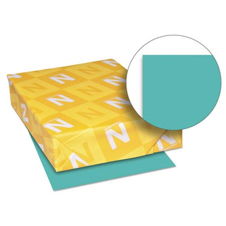 Wausau Paper Index - Wausau Papers 26811 8.5 x 11 Exact Brights Paper, Bright Aqua