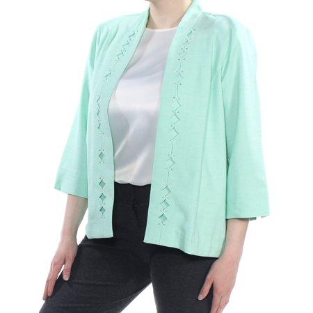 ALFRED DUNNER Womens Green Embellished Blazer Wear To Work Jacket  Size: (Alfred Dunner Blazer)