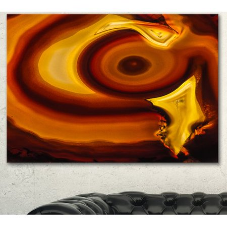 Design Art 'Agate Geode Slice Macro' Graphic Art on Wrapped (Geode Slice)