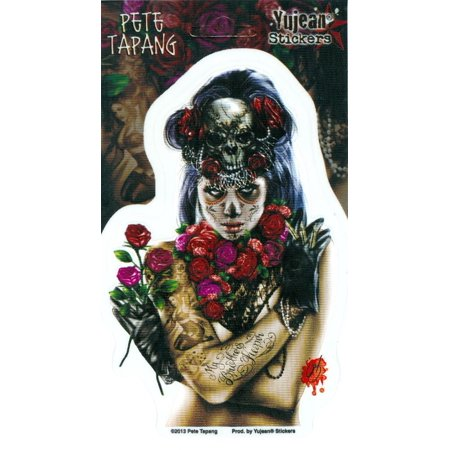 Pete Tapang - La Calavera Catrina Pin Up Girl - Sticker / Decal](Calavera Girl)
