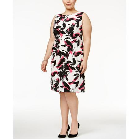 Kasper Plus Size Printed Sheath Dress Walmart