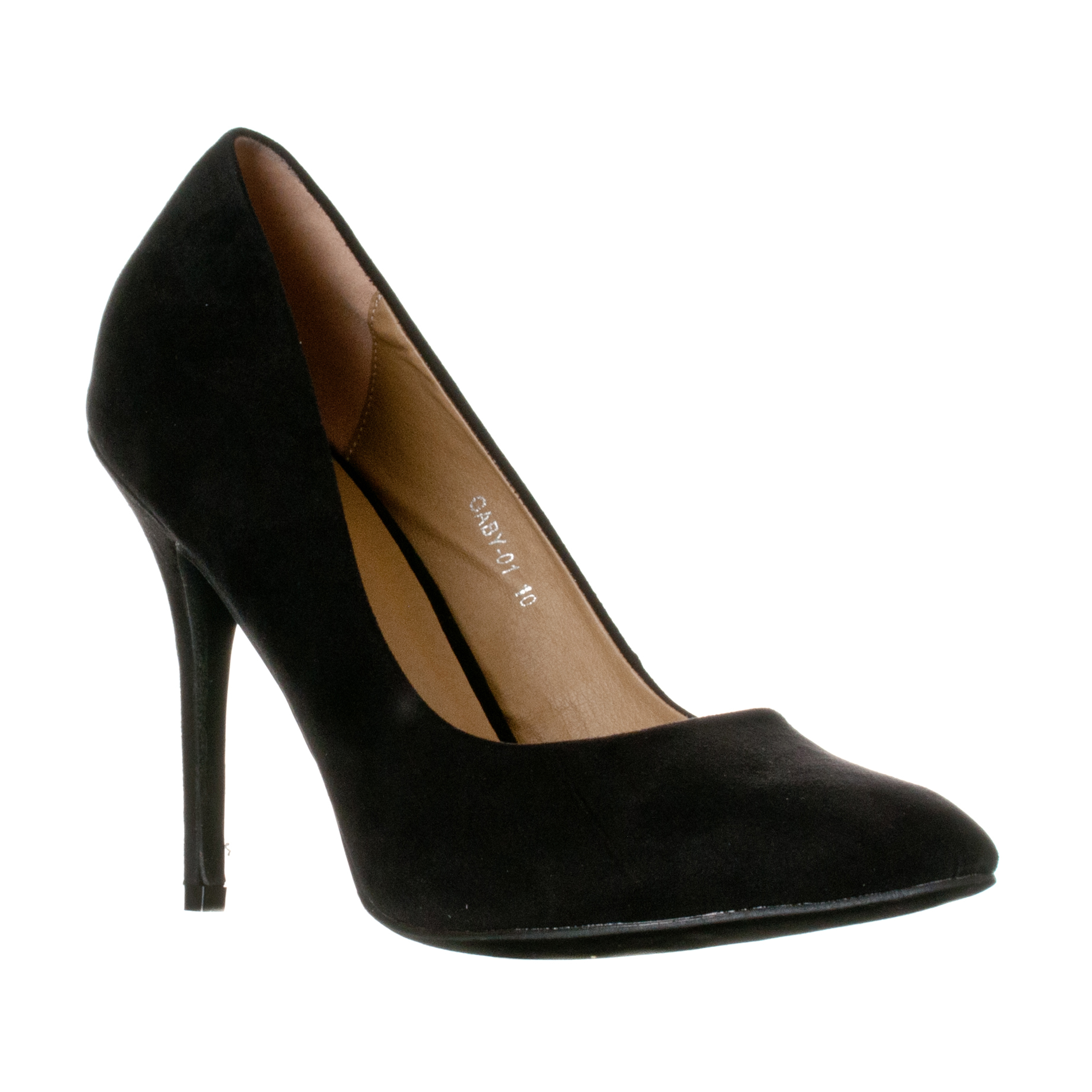 Riverberry Women's Gaby Pointed Closed Toe Stiletto Pump Heels, Black Suede, 9