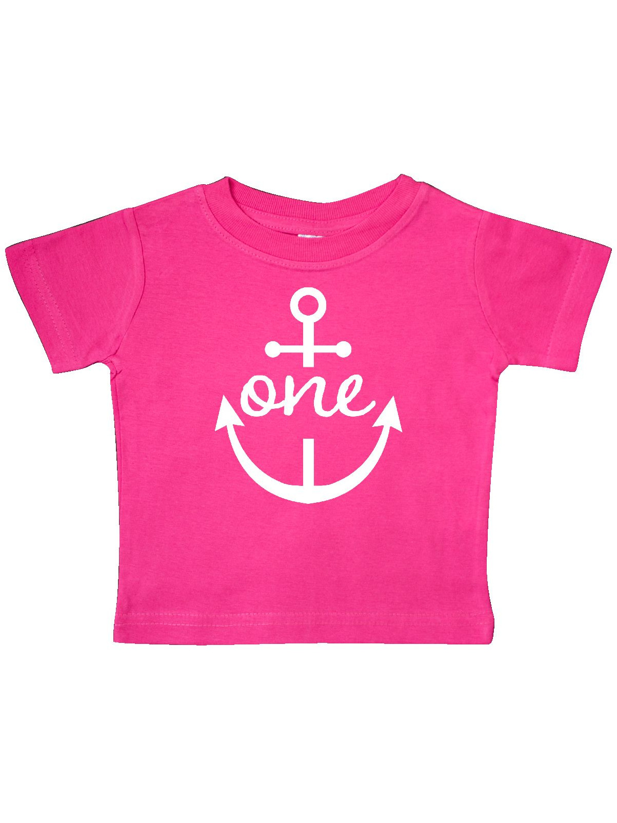 inktastic First Birthday Nautical Anchor 1 Year Old Baby T-Shirt