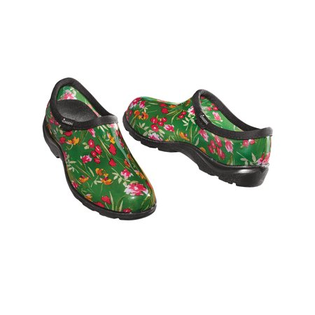 Fresh Cut Green Sloggers Waterproof Garden Shoes - Molded Arches for All Day Comfort and Deep Treads ()