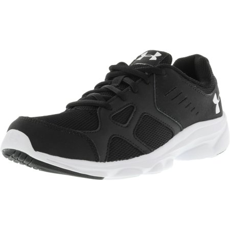 Under Armour Boy's Pace Rn Black / White Ankle-High Running Shoe - 7M
