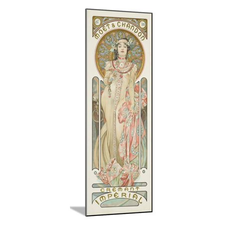 Moet and Chandon: Dry Imperial, 1899 Wood Mounted Print Wall Art By Alphonse Mucha (Moet & Chandon Apple Wine)