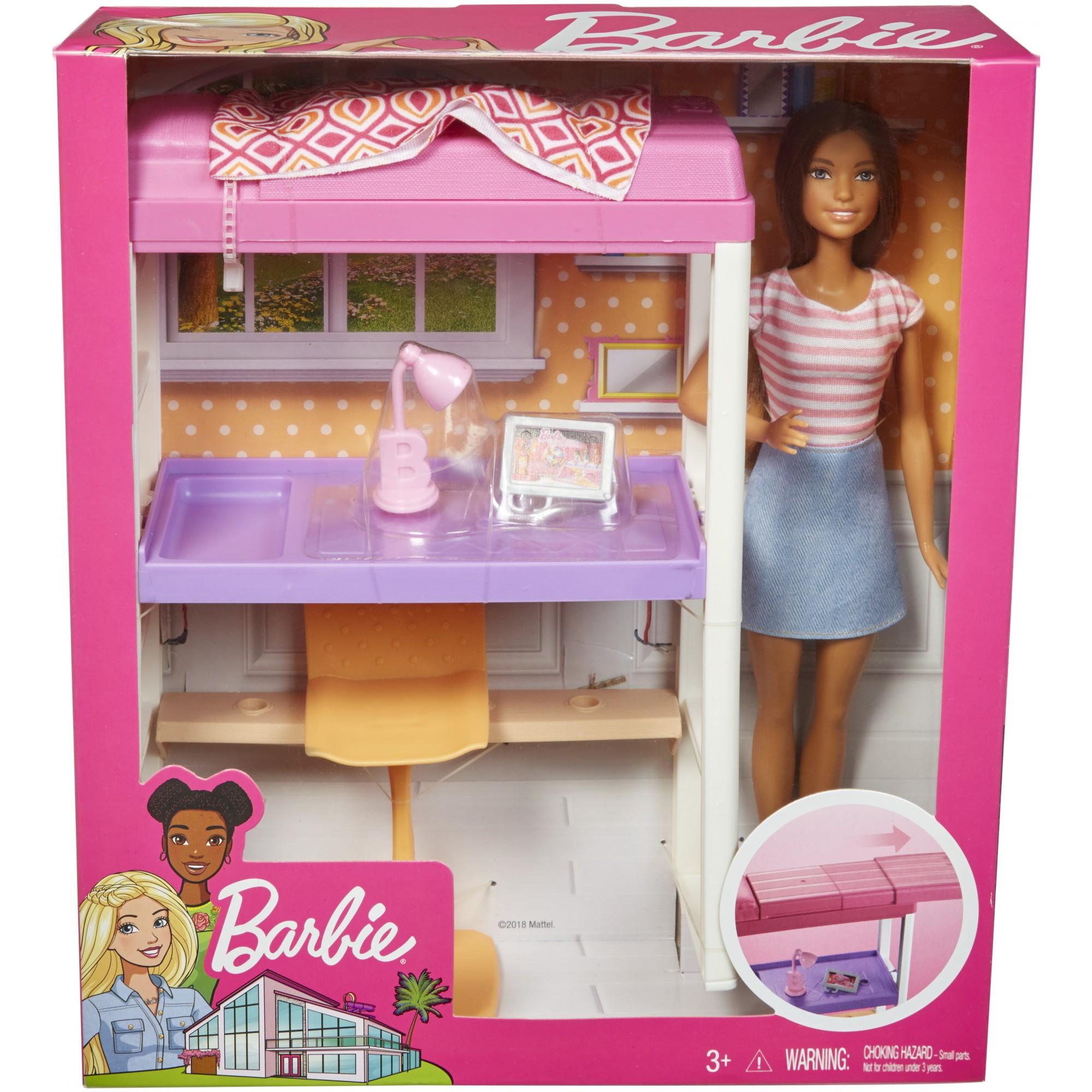 barbie doll size bedding set for dolls