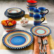 Gibson Home Pueblo Springs Handpainted 16-Piece Dinnerware Set