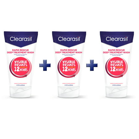 Clearasil Rapid Rescue Deep Acne Treatment Face Wash, Buy 3 to Save