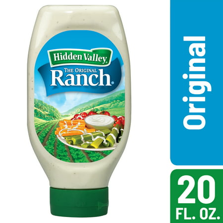 (2 Pack) Hidden Valley Easy Squeeze Original Ranch Salad Dressing & Topping, Gluten Free - 20 oz