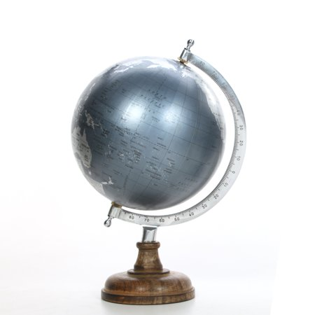 Better Homes and Gardens Decorative Tabletop Globe, Silver