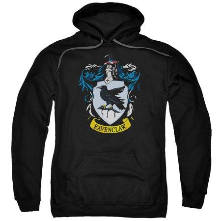 Harry Potter Ravenclaw Crest Adult Pull Over Hoodie Black