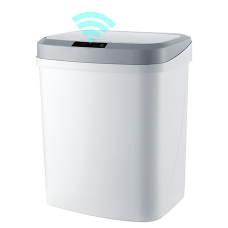 15L/4Gal Touch-free Trash Cans Smart Knock Trash Cans Automatic Garbage Can Infrared Motion Sensor with Lid for Kitchen Bathroom Office Bedroom - image 7 of 7