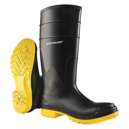 Knee Boots, Sz 12, 16 H, Black, Stl, PR DUNLOP
