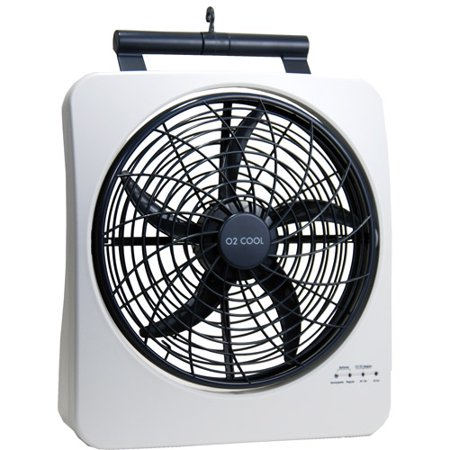o2cool 10 smart power rechargeable swivel fan. Black Bedroom Furniture Sets. Home Design Ideas