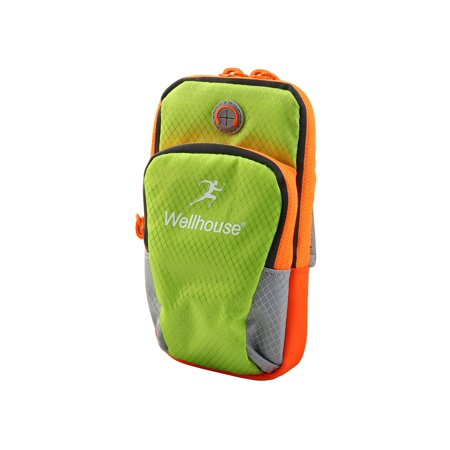 Light Run Bag (Wellhouse Authorized Jogging Phone Holder Adjustable Run Sport Arm Bag Green M)