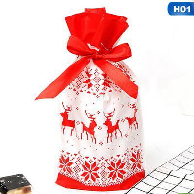 KABOER Drawstring Bag Gift Christmas Bag Snowflake Crisp Nougat Bunch Candy Bag Cookie Bag ()