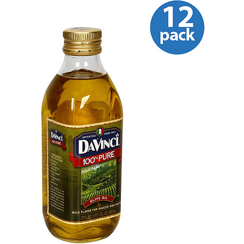 DaVinci 100% Pure Olive Oil, 17 fl oz, (Pack of 12)