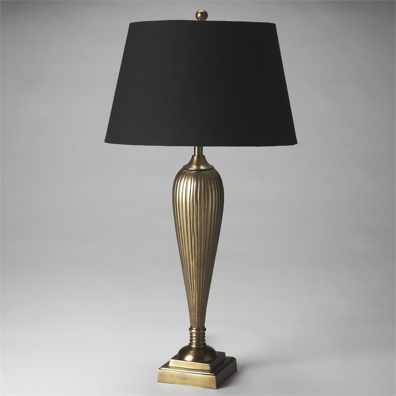 Butler Specialty Hors Doeuvres Table Lamp in Antique Brass by Butler Specialty