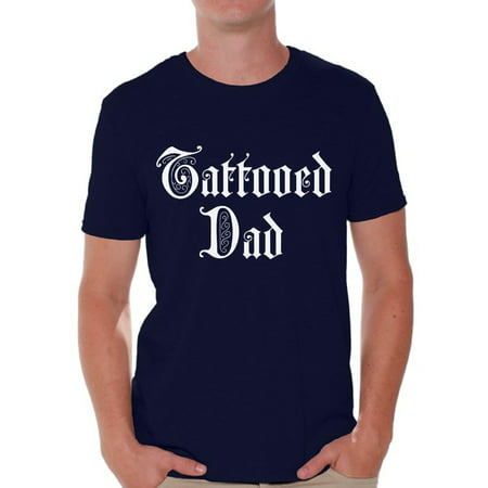 Awkward Styles Tattooed Dad Tshirt for Men Inked Dad Shirt Tatted Dad T Shirt Best Gifts for Dad Cool Tattoo Dad Shirt Tattoo Shirts with Sayings for Men Amazing Gifts for Dad Top Dad