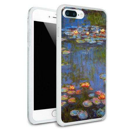 Water Lilies - Claude Monet Lillies Protective Slim Hybrid Rubber Bumper Case for Apple iPhone 7+ Plus (Apple Water Lilly)