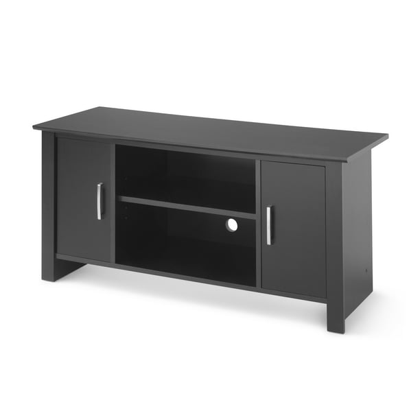 "Mainstays TV Stand for Flat Screen TVs up to 47"", Blackwood Finish"