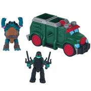 """Teenage Mutant Ninja Turtles Micro Mutant Armored Truck with 1.15"""" Raphael and Slash"""