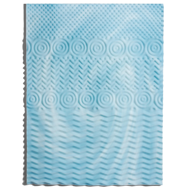 authentic comfort 3inch comfort rx 5zone foam mattress topper walmart com