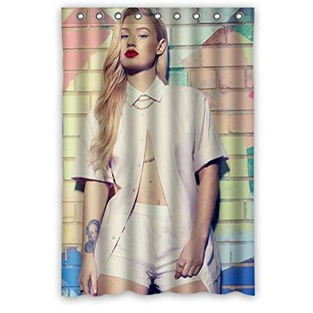 Deyou Woman Iggy Azalea Sexy Pictures Shower Curtain Polyester Fabric Bathroom Shower Curtain Size 60X72 Inch