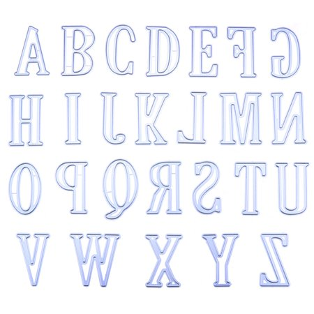 5CM Large Big Alphabet Letters Metal Cutting Dies Stencils for DIY Scrapbooking Specification:A-Z Style:A total of 26 letters