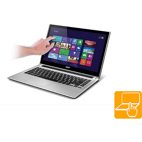 "Acer Silky Silver 14"" Touchscreen Aspire V5 Series V5-471P-6840 Laptop PC with Intel Core i3-3227U Processor and Windows 8 Operating System"