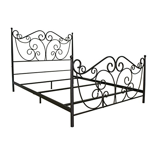 Bell'O B538QDB Metal Bed Frame Queen, Dark Bronze