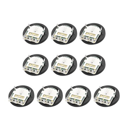 10K Ohm Dial Wheel Potentiometer for Audio Stereo Volume